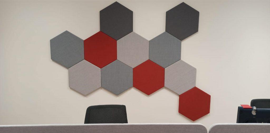 Panneau acoustique TEMPO - Hexagone - visuel